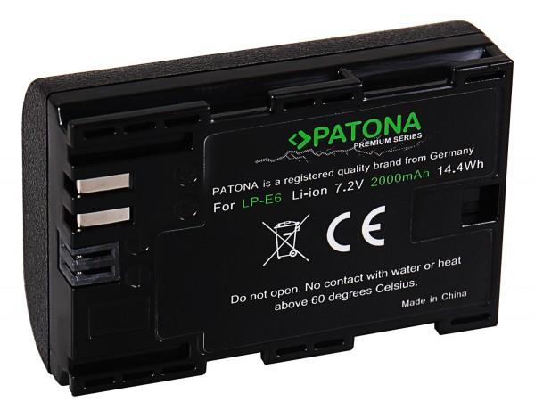 PATONA Premium AKKU f. CANON LP-E6 LPE6 EOS 60D 70D 5D 6D 7D Mark III