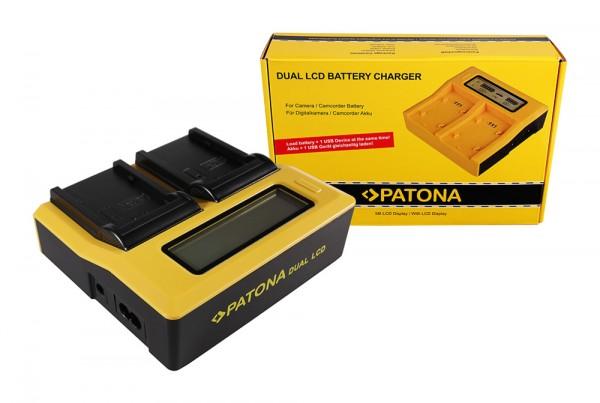 PATONA Dual LCD USB Ladegerät f. Panasonic VWVBD29 VW-VBD29 VWVBD58 VW-VBD58
