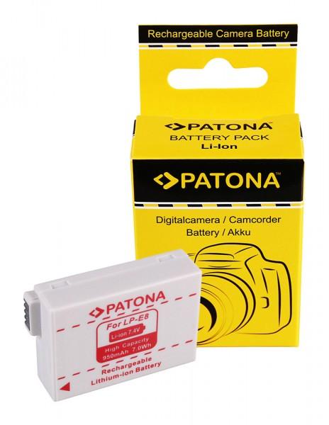PATONA AKKU CANON LP-E8 LPE8 EOS 550D EOS 600D EOS 550-D EOS 600-D