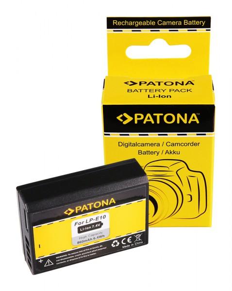 PATONA AKKU für CANON LP-E10 LPE10 EOS1100D EOS 1100D