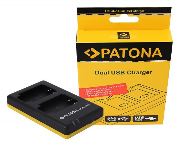 PATONA Dual Schnell-Ladegerät f. Sony NP-BX1, NPBX1 inkl. Micro-USB Kabel