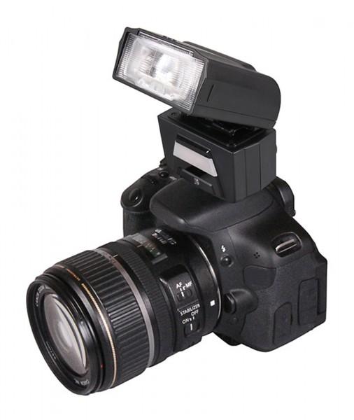 PATONA Digitaler TTL-Motorzoom-Blitz FK40 mit integrierter Videoleuchte f. Sony