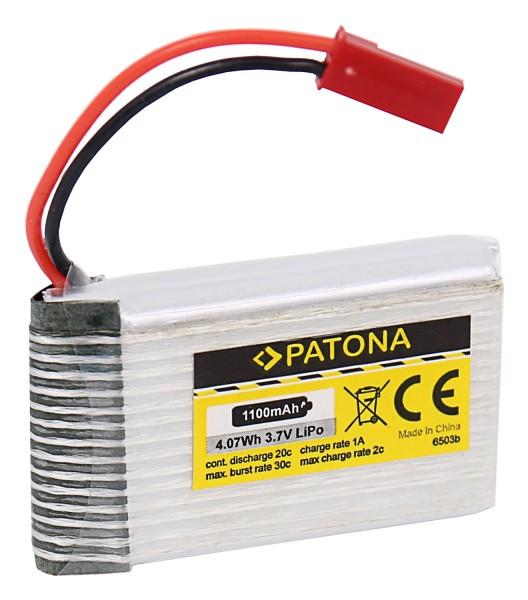 PATONA RC Akku 3,7V 1100mAh JST Li-Polymer für Walkera Dragonfly, HM 5G4