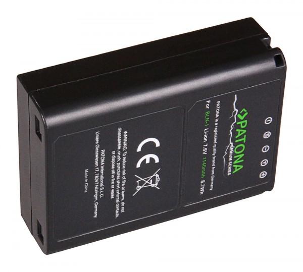 PATONA Premium Akku f. Olympus OM-D OMD E-M5 Stylus XZ-2 Pen E-P5 E-M1