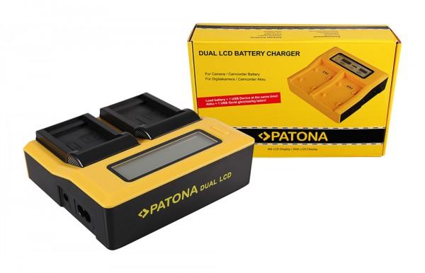 PATONA Dual LCD USB Ladegerät f. Samsung SLB-0837B IA-BH130C IA-BH130LB Digimax i85 L74 wide