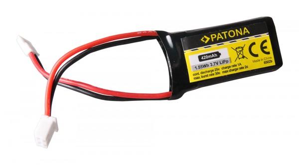 PATONA RC Akku 3,7V 420mAh Walkera Li-Polymer für Hubsan X4, Galaxy Visitor, Wal
