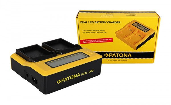 PATONA Dual LCD USB Ladegerät f. Nikon ENEL15 EN-EL15