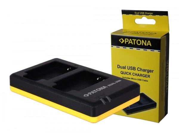 PATONA Dual Schnell-Ladegerät f. Nikon EN-EL12, ENEL12 inkl. Micro-USB Kabel