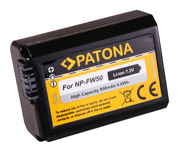 Akku f. SONY NP-FW50, NEX.3, NEX.3C, NEX.5, NEX.5A