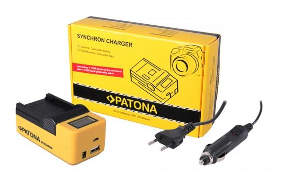 PATONA Synchron USB Ladegerät f. Sanyo DBL90 DB-L90 mit LCD-Display