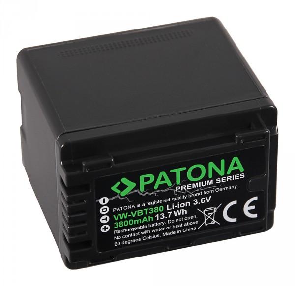 PATONA Premium Akku f. Panasonic VW-VBT380 HC-V750EB W580 V550EB