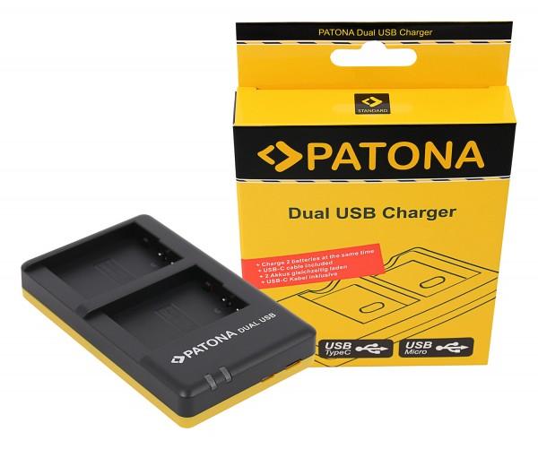 PATONA Dual Schnell-Ladegerät f. Panasonic DMW-BLC12 E inkl. Micro-USB Kabel