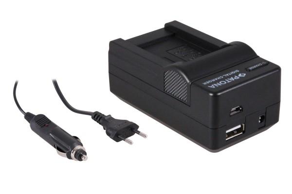 PATONA 4in1 Ladegerät Minolta NP-900 NP900 Slimline X4 X5 X6 DC5080