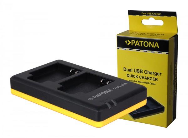 PATONA Dual Schnell-Ladegerät f. Olympus Li-50B, Li50B inkl. Micro-USB Kabel