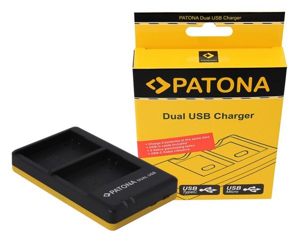 PATONA Dual Schnell-Ladegerät f. Nikon EN-EL14, ENEL14 inkl. Micro-USB Kabel
