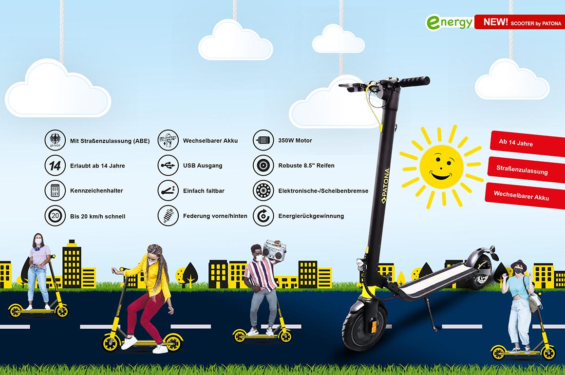 PATONA E-Scooter, alle Vorteile und Features auf einem Blick