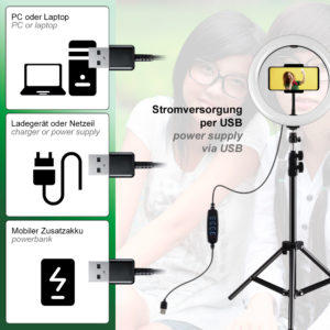 Ringlicht Stromversorgung per USB